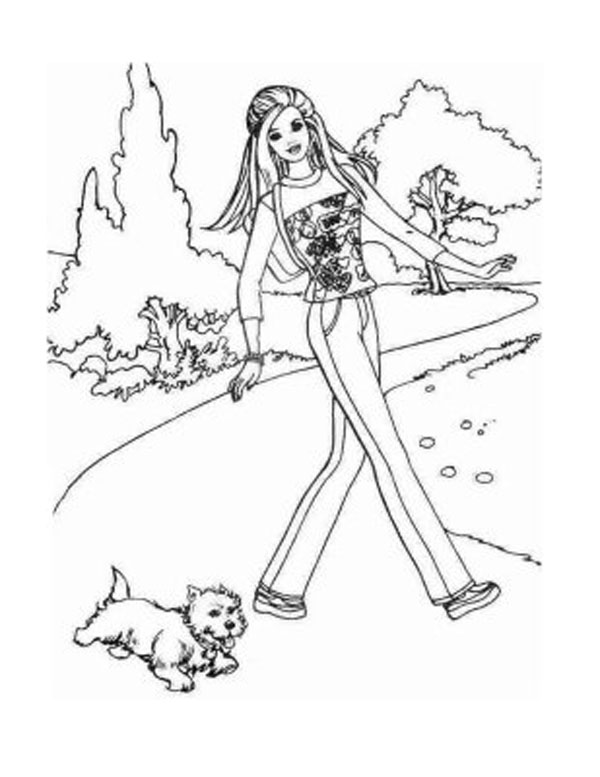 Coloring Barbie Pages 11