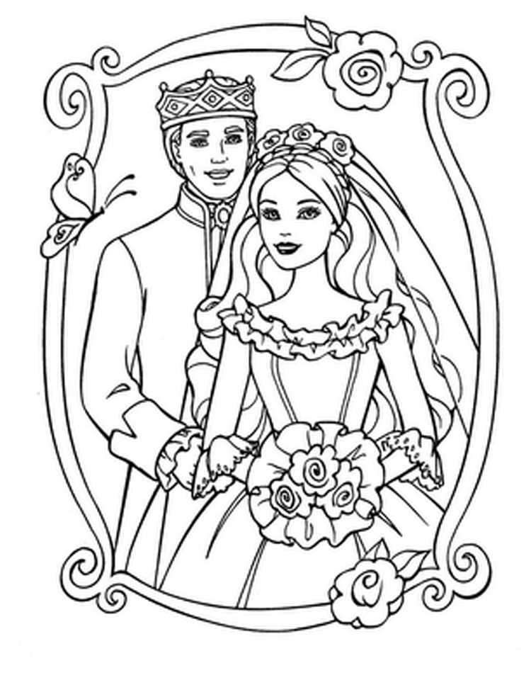 Coloring Barbie Pages 3