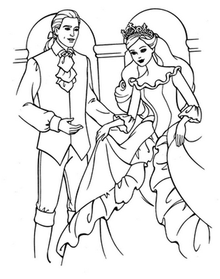 Coloring Barbie Pages 4