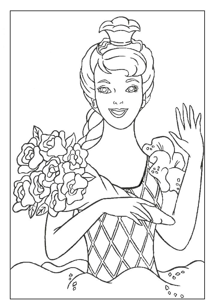 Coloring Barbie Pages 6