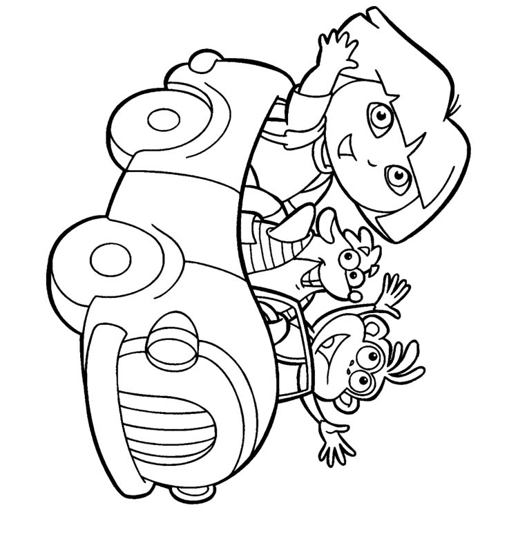 Coloring Dora Pages 10
