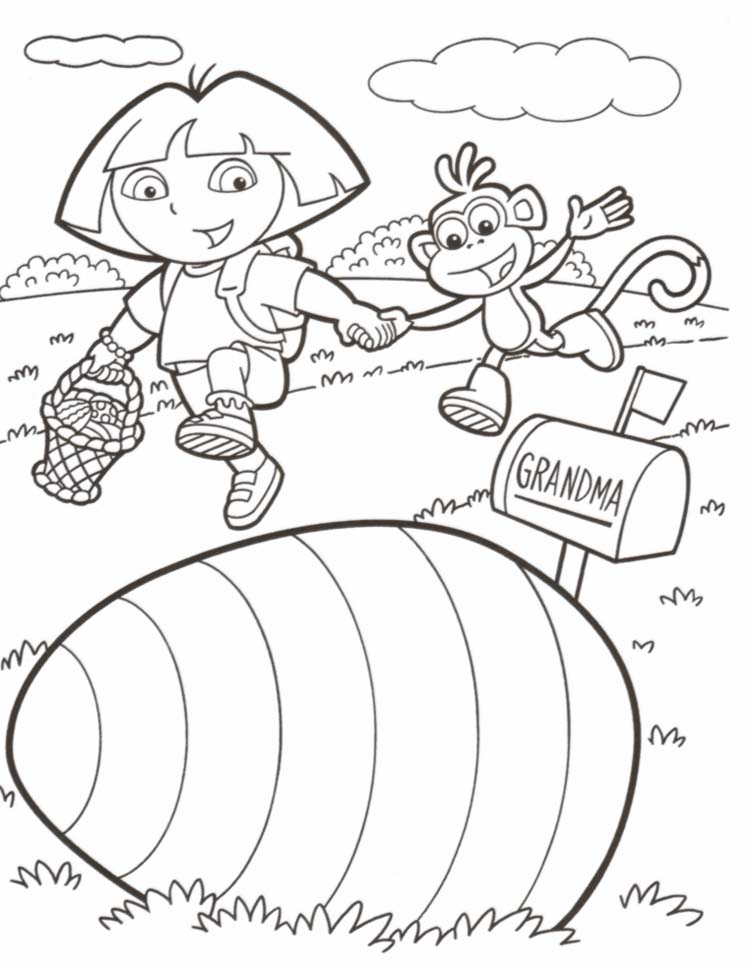 Coloring Dora Pages 8