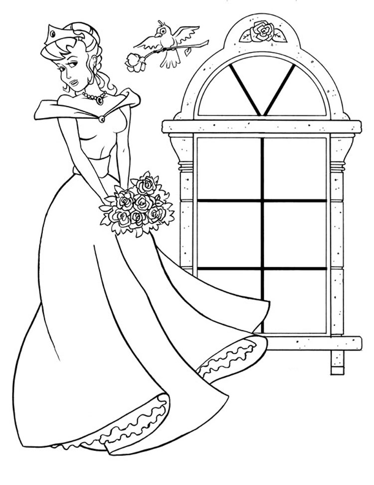 Coloring Princess Pages 12