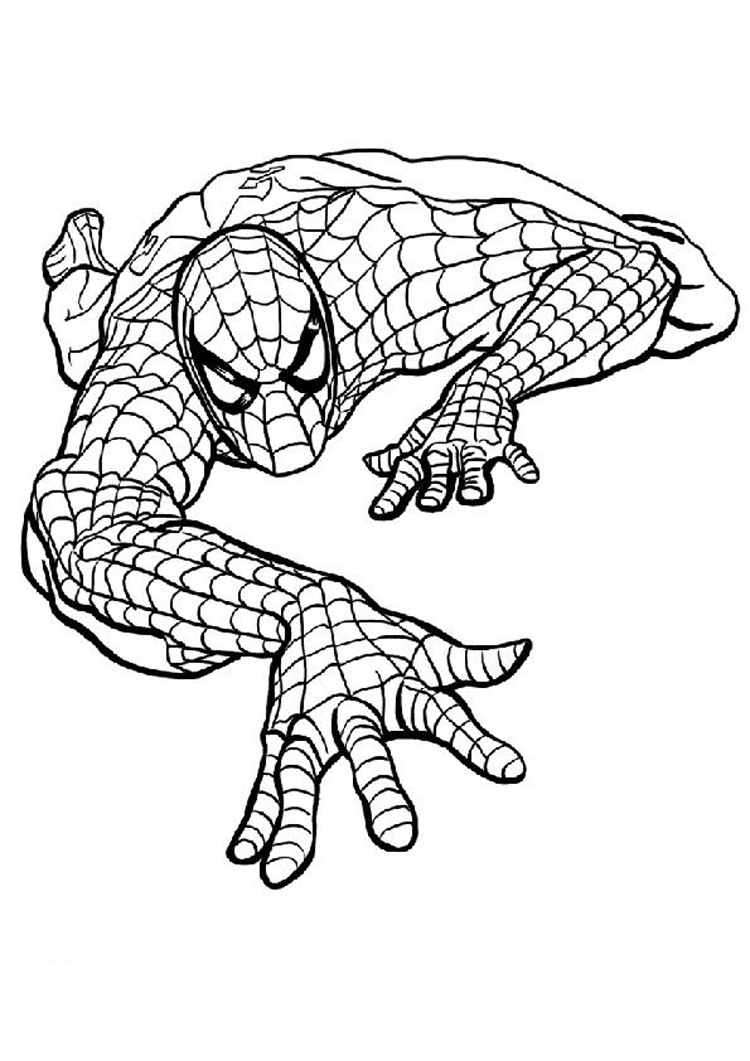 Coloring Spiderman Pages 1