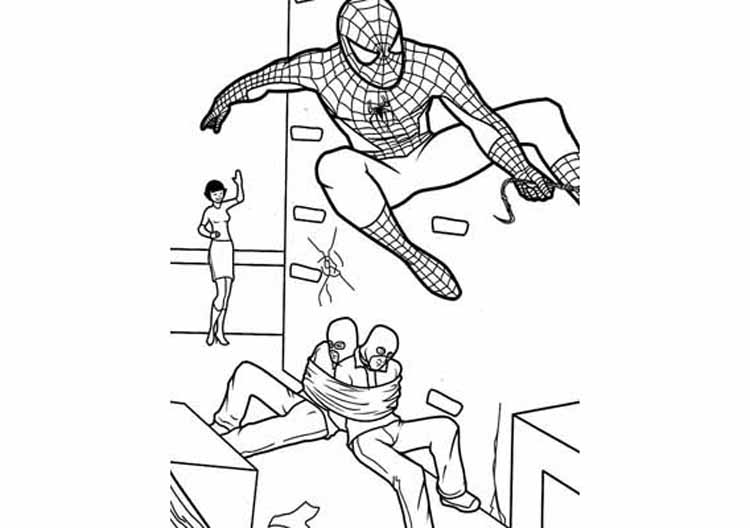 Coloring Spiderman Pages 2