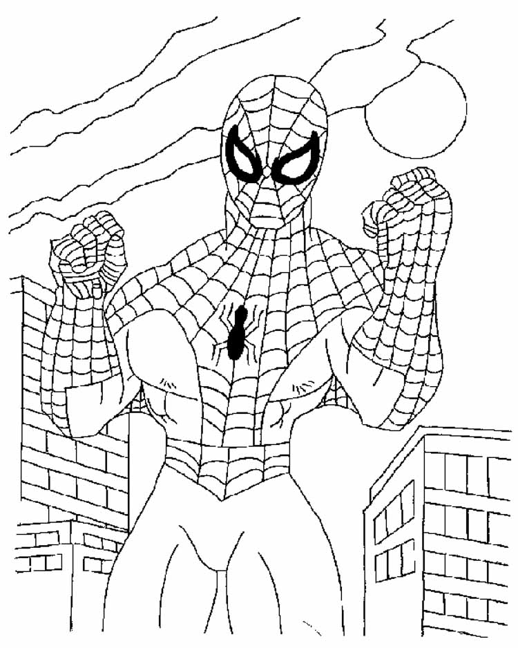 Coloring Spiderman Pages 6