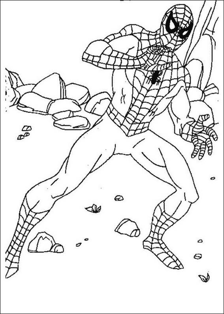 Coloring Spiderman Pages 7