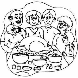 Coloring Thanksgiving Pages 12