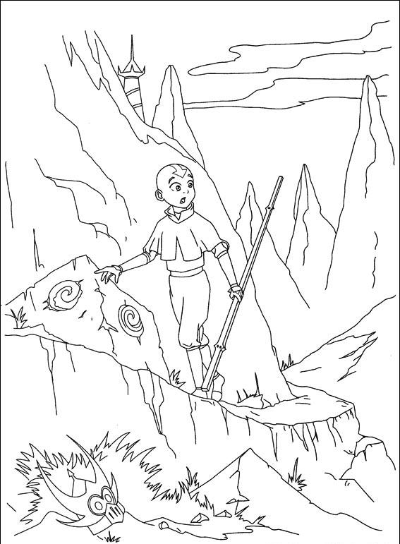 Avatar The Last Airbender Coloring Pages 4