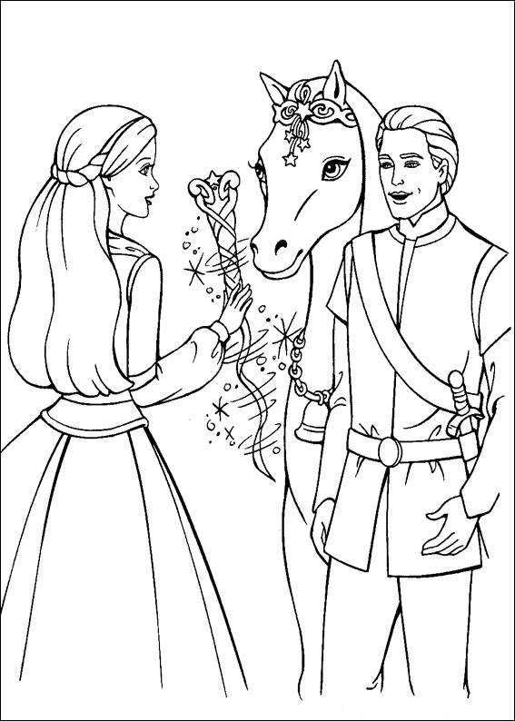 Barbie and The Magic Pegasus Free Coloring Printable 1