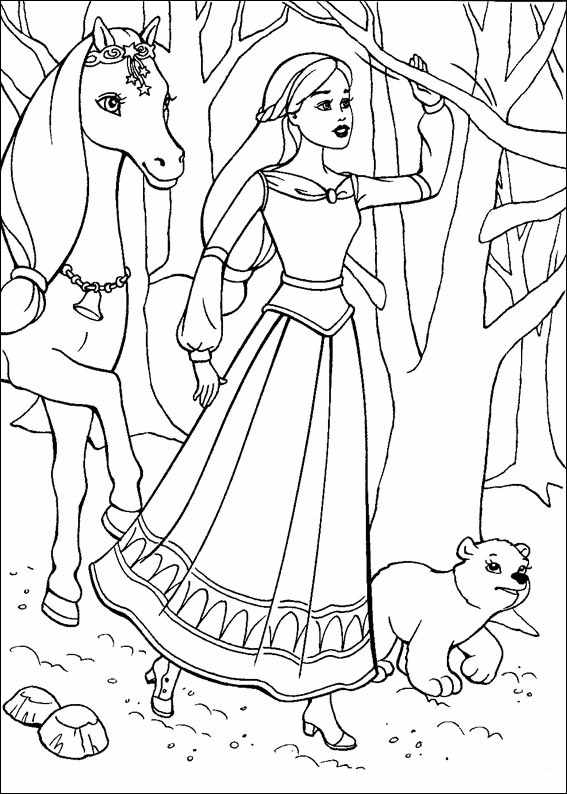 Barbie and The Magic Pegasus Free Coloring Printable 11