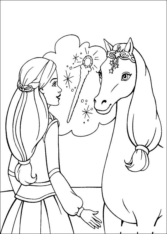 Barbie and The Magic Pegasus Free Coloring Printable 12