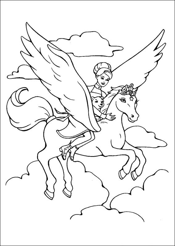 Barbie and The Magic Pegasus Free Coloring Printable 14