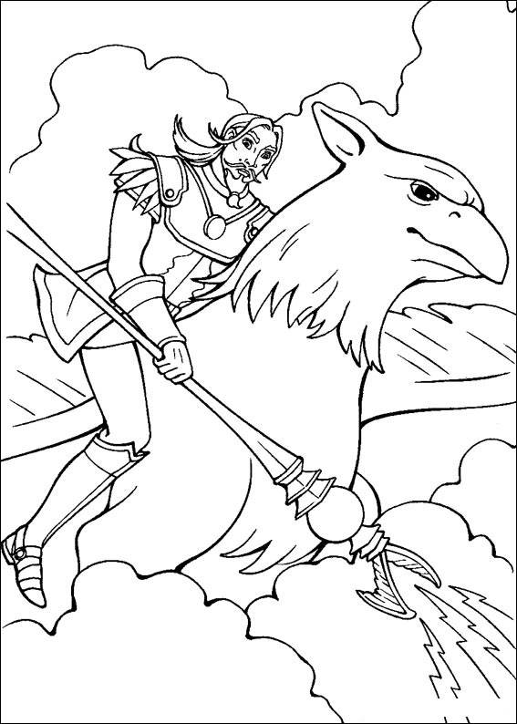 Barbie and The Magic Pegasus Free Coloring Printable 2