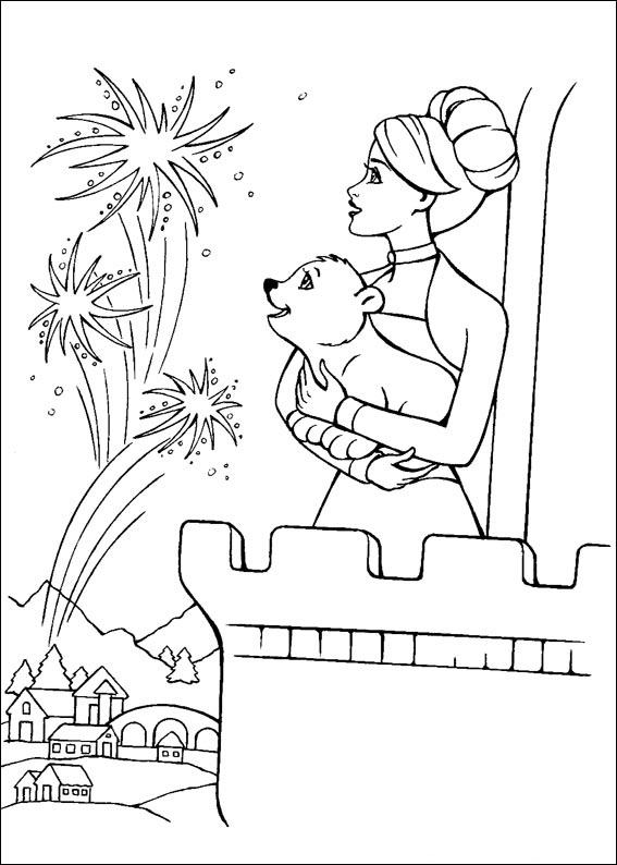 Barbie and The Magic Pegasus Free Coloring Printable 3