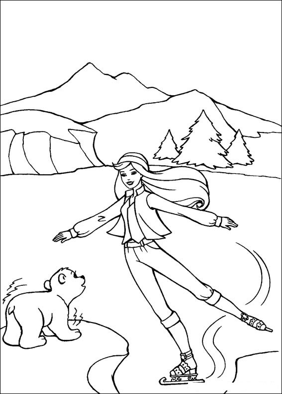 Barbie and The Magic Pegasus Free Coloring Printable 7
