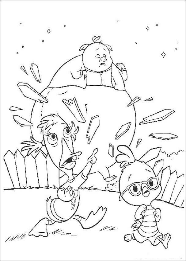 Chicken Little Free Coloring Printable 1
