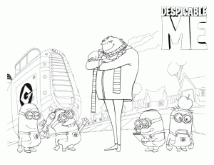 Despicable Me Free Coloring Printable 7