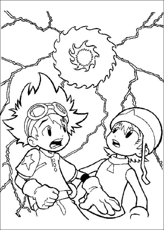 Digimon Tamers Coloring Pages 5