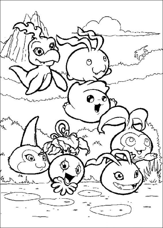 Digimon Tamers Coloring Pages 6