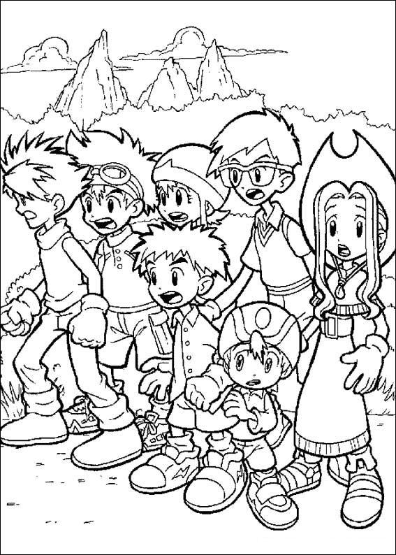 Digimon Tamers Coloring Pages 7