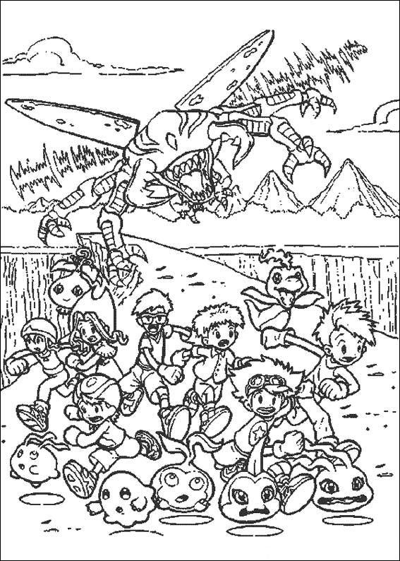 Digimon Tamers Coloring Pages 8