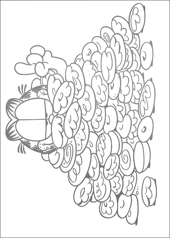 Garfield Coloring Pages 1