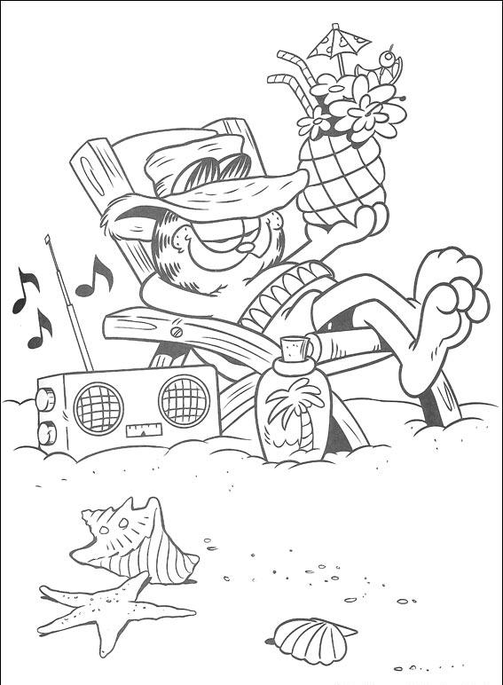 Garfield Coloring Pages 6
