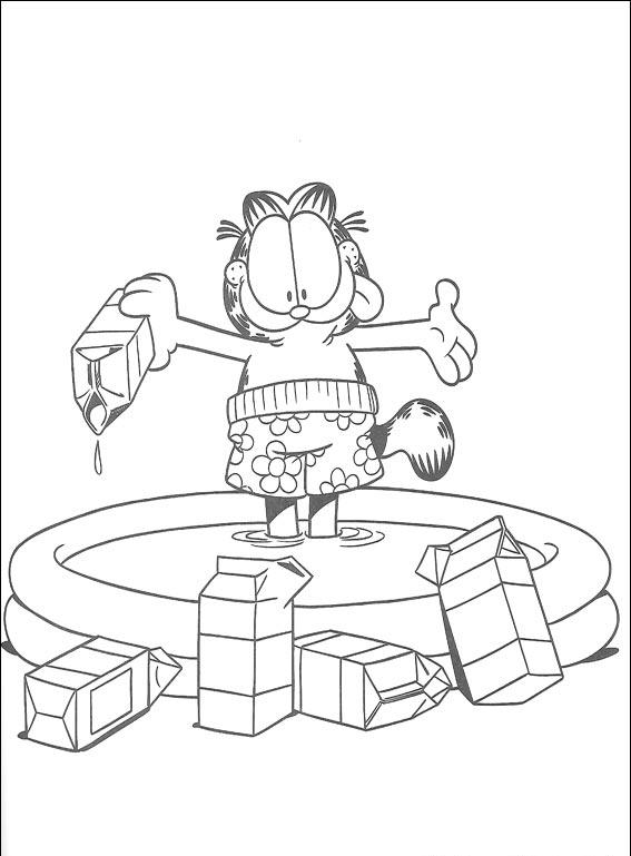 garfield coloring pages 9