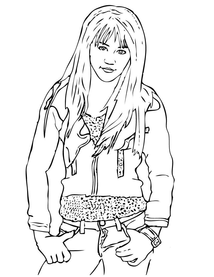 Hannah Montana Coloring Pages 5