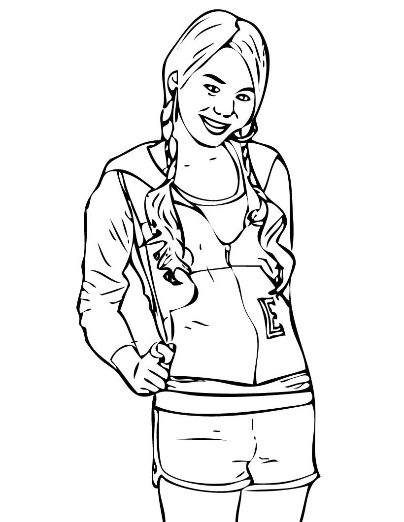 Hannah Montana Coloring Pages 8