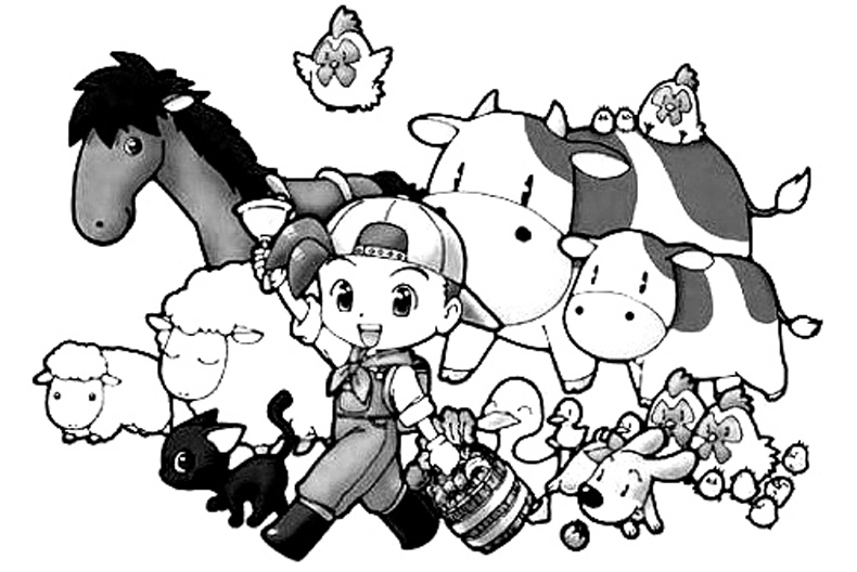 Harvest Moon Free Coloring Printable 1