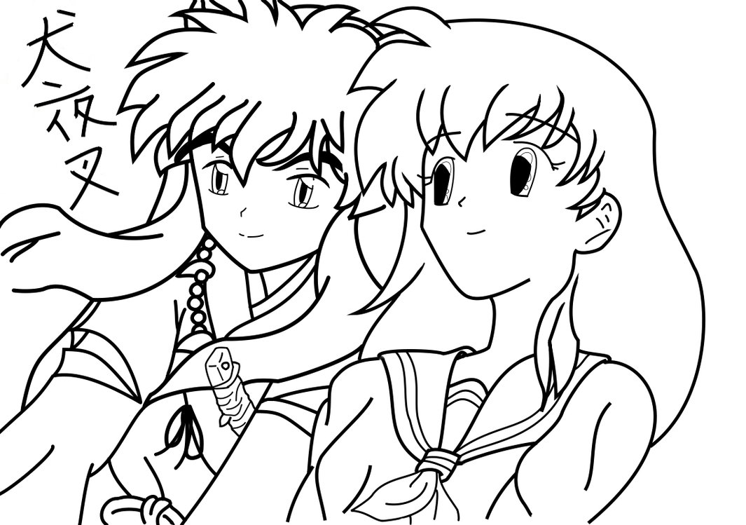 inuyasha the final act free coloring printable
