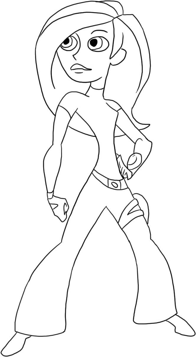 Kim Possible Free Coloring Printable 1