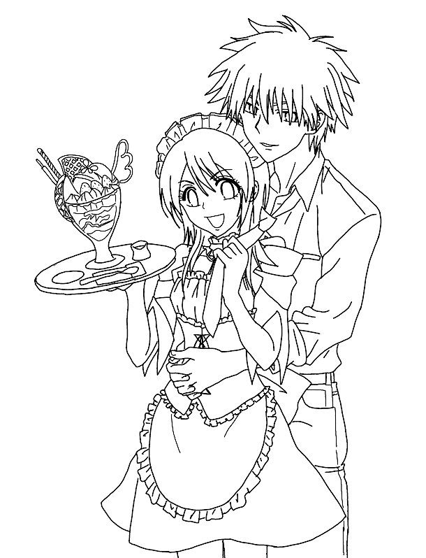 Maid Sama Free Coloring Printable 8