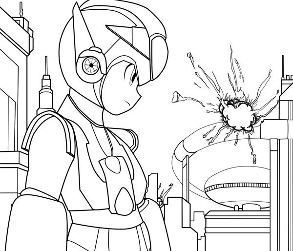 Megaman ZX Free Coloring Printable 2