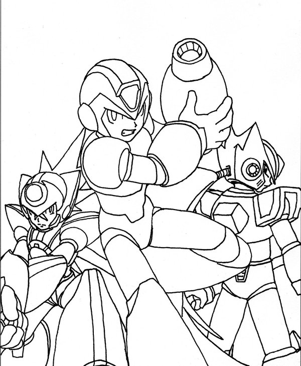 Megaman ZX Free Coloring Printable 3