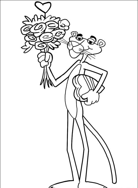 Pink Panther Coloring Pages 3