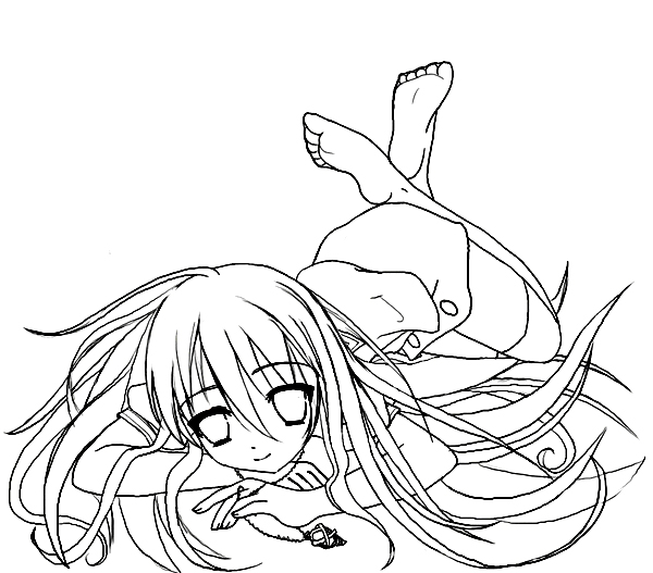 Shakugan No Shana II Free Coloring Printable 4