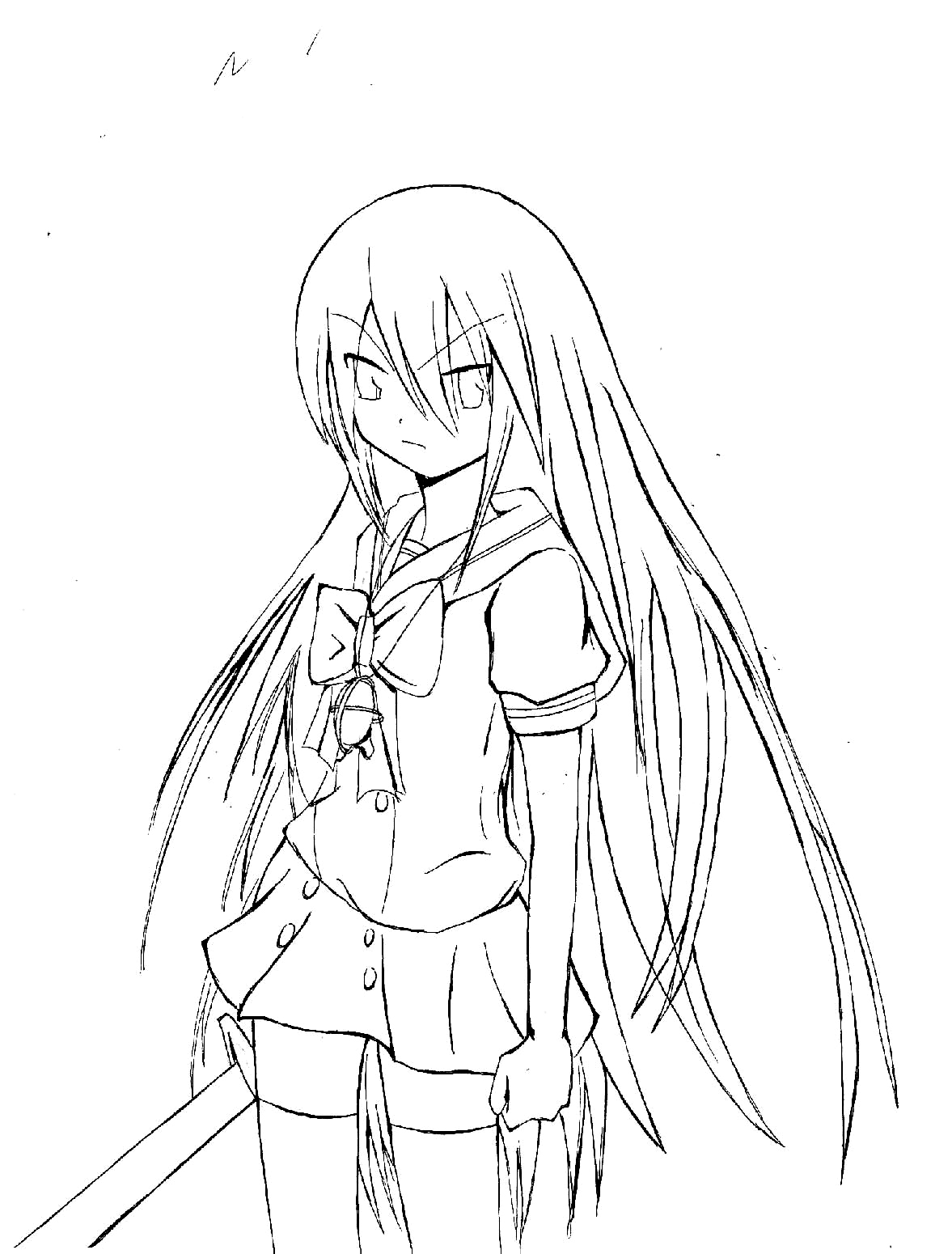 Shakugan No Shana II Free Coloring Printable 5