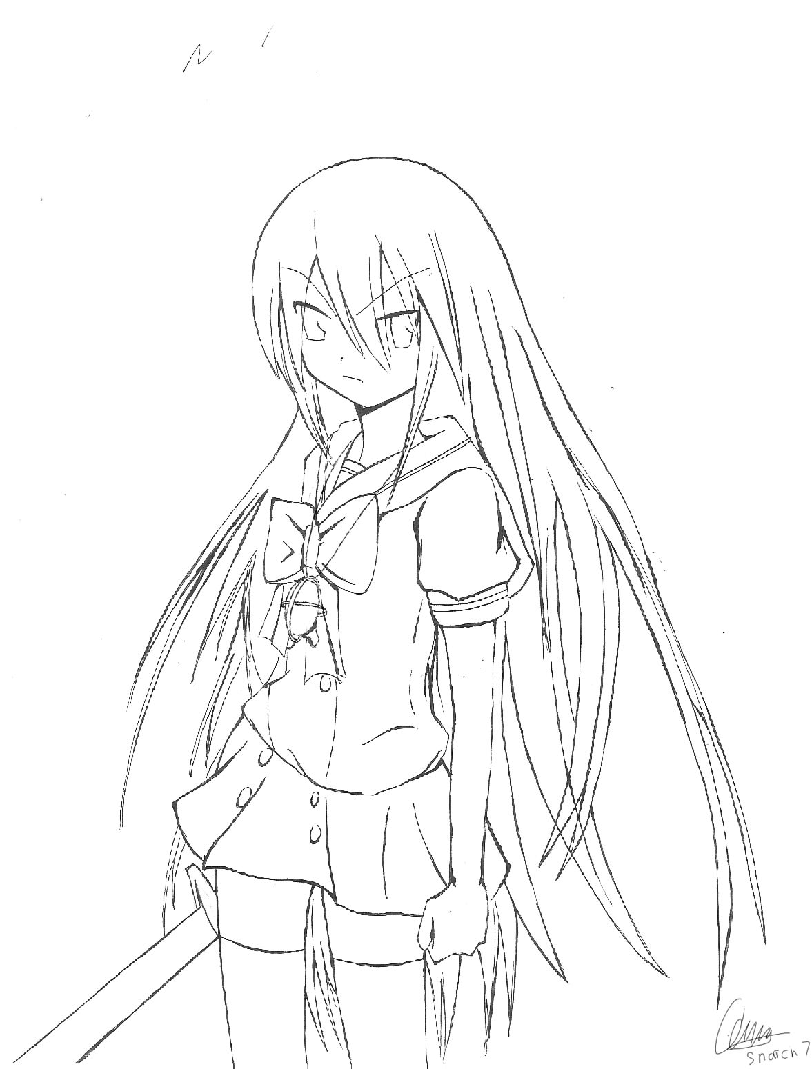Shakugan No Shana II Free Coloring Printable 6