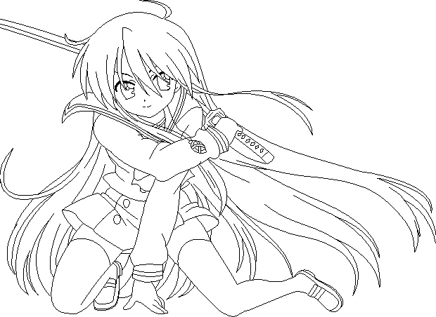 Shakugan No Shana II Free Coloring Printable 8
