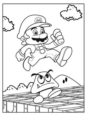 trendy super mario bros coloring pages with diddy kong coloring pages
