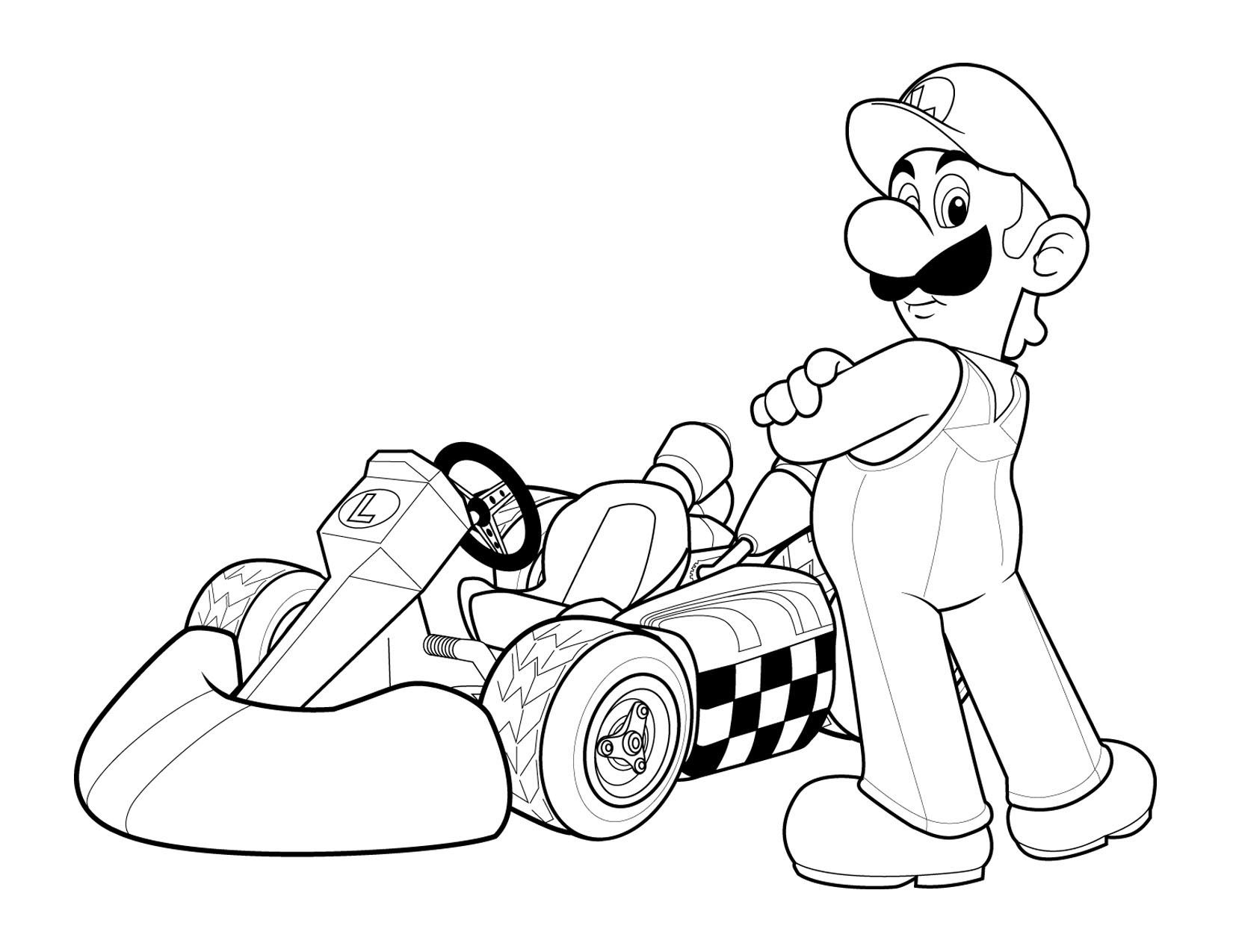 Super Mario Free Coloring Printable 2