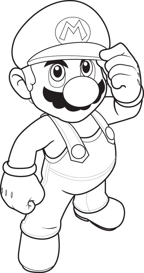 Super Mario Free Coloring Printable 3