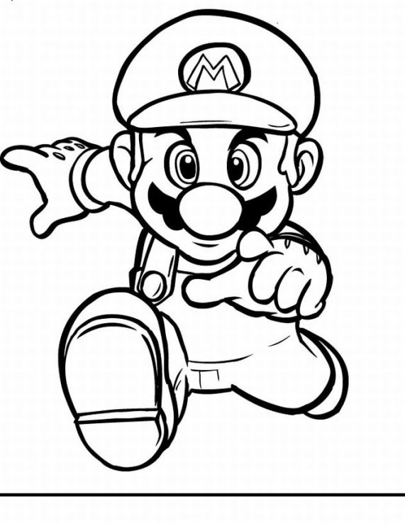 Super Mario Free Coloring Printable 5