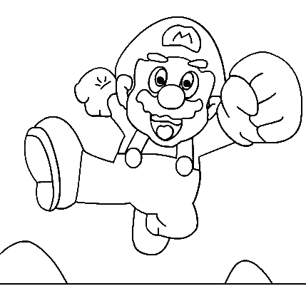 Super Mario Free Coloring Printable 7