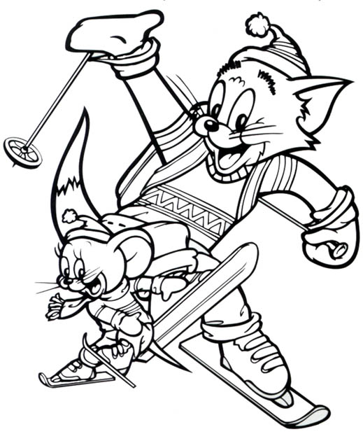 Tom and Jerry The Movie Free Coloring Printable 4