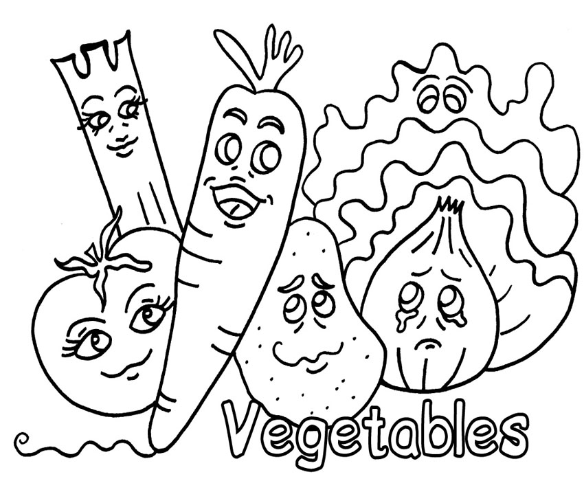 fruit and vegetable clip art. Vegetable Coloring