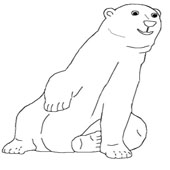 Bear Coloring Page 1